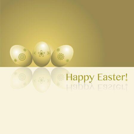 Happy Easter! Easter eggs. Illustration