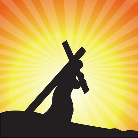 Jesus carrying His cross. Good Friday.