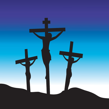 crucify: Jesus Christ at Calvary. Crucifixion. Good Friday.