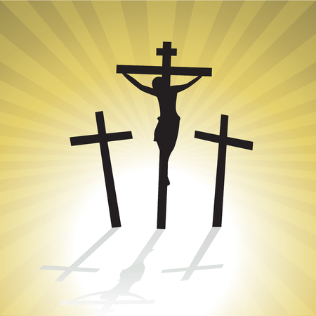 crucified: Jesus Christ Crucified. Good Friday.