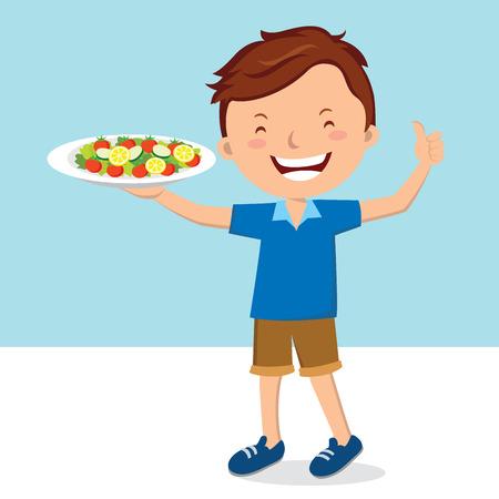 plat: Man and salad