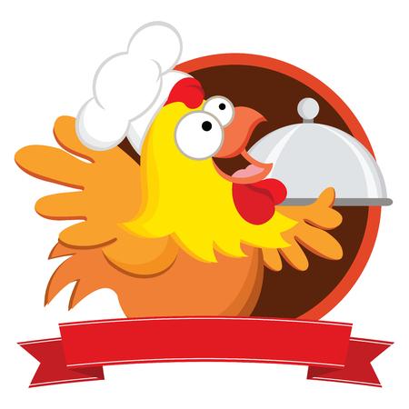 Cheerful chicken chef