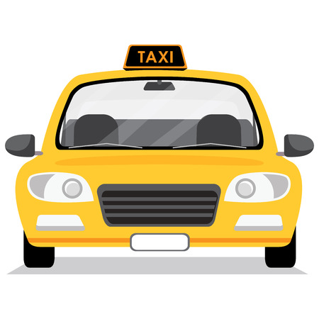 Taxi car. Vector illustration in flat style. Illustration