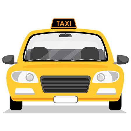 Taxi car. Vector illustration in flat style. Çizim
