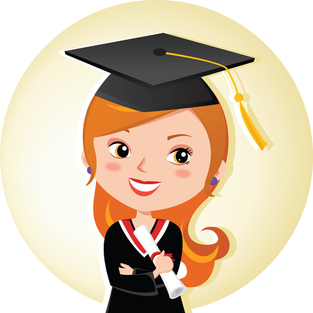 beauty girl pretty: Pretty graduation girl. Young beauty graduate woman smiling with certificate.