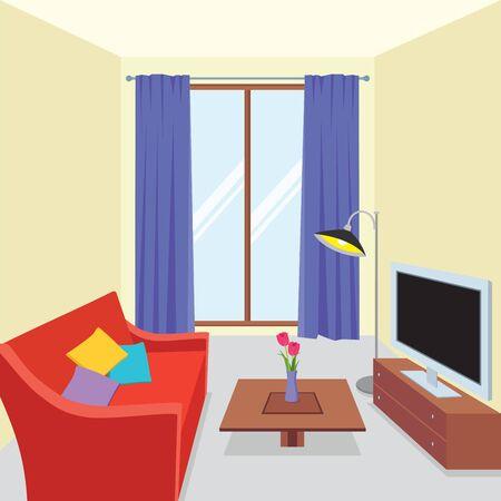 celling: Interior living room Illustration
