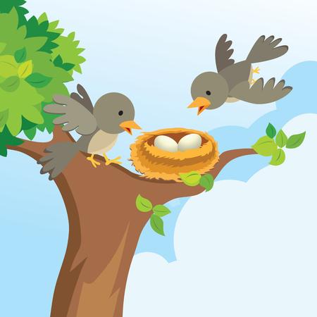 sky brunch: Bird family love
