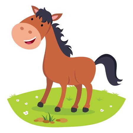Horse smiling. Cheerful horse.
