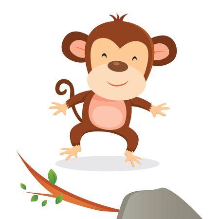 Happy monkey smiling Illustration