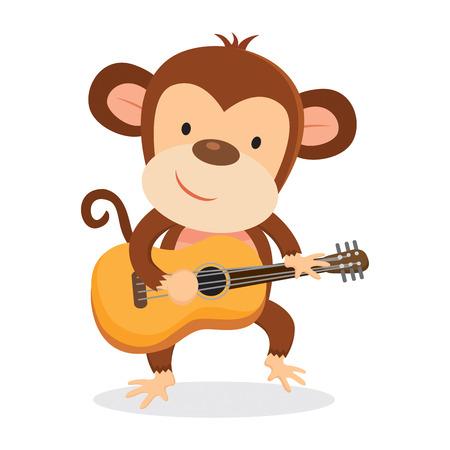Aap spelen gitaar