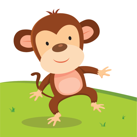 grasslands: Monkey walking