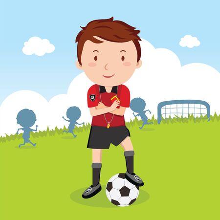 umpire: Umpire soccer Illustration