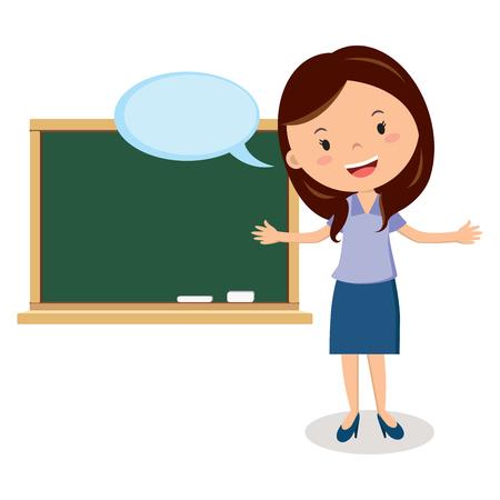 Teacher on lesson Vectores
