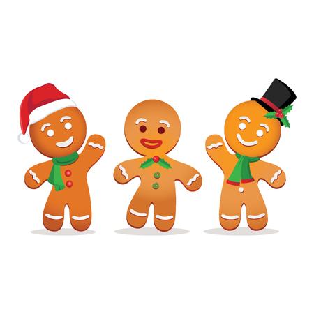 Humorous gingerbread man.  イラスト・ベクター素材