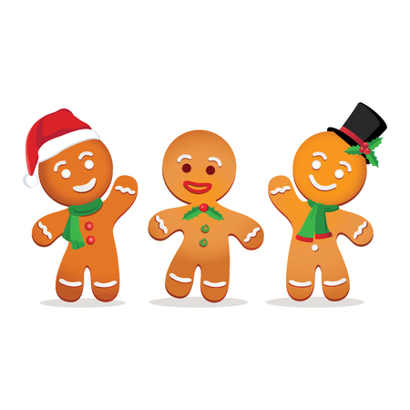 Humorous gingerbread man. Vectores