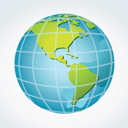 Globe, America continents