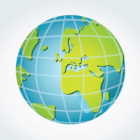 Earth globe Illusztráció