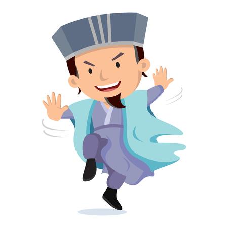 Asia martial Illustration