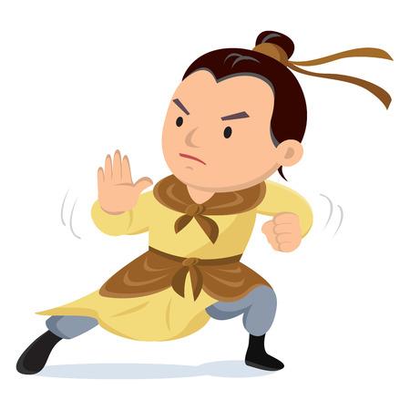 영웅 아시아 무술가.
