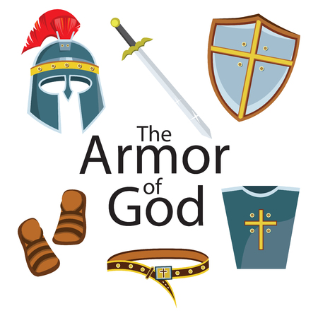 Elemento di armatura del cavaliere Vettoriali
