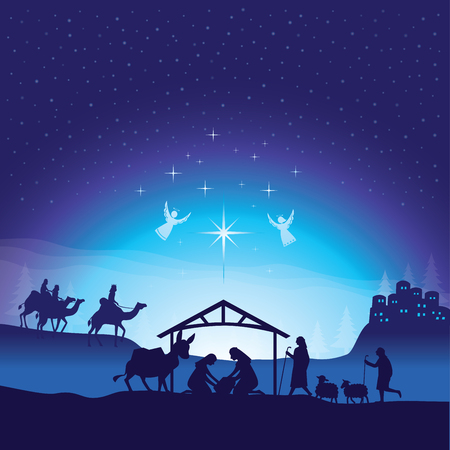 Kerstmis kerststal. Stockfoto - 88177418