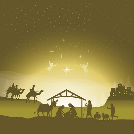 Scena di natività di Natale.