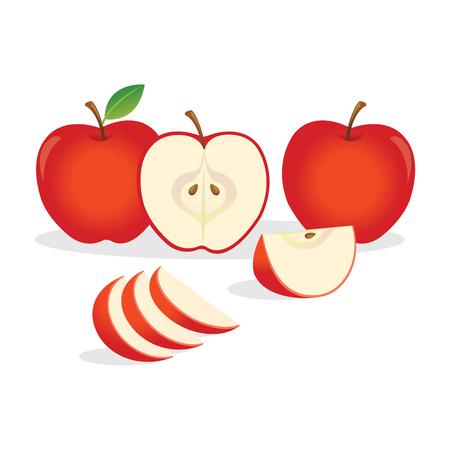 Red apples illustration.