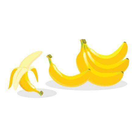新鮮なバナナのイラスト。  イラスト・ベクター素材