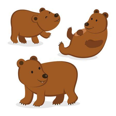 Bruine berenillustratie.