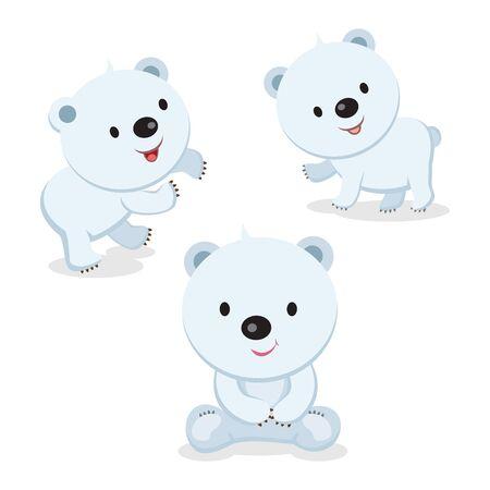 Cute polar bear illustration. Ilustração