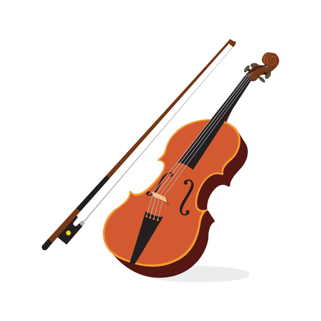 Vector illustration of a violin isolated
