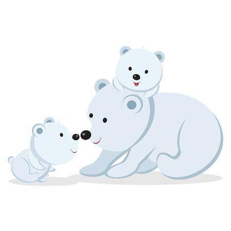 Polar bear vector. Illustration