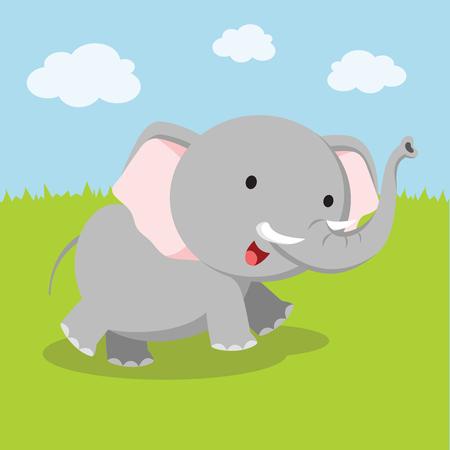 Elephant. Vector illustration.