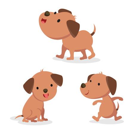 Set of dog in different pose. Vector illustration. Illustration