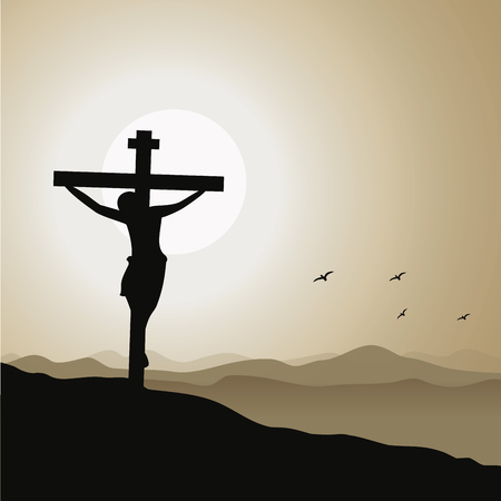 Jesus Christ Crucifixion vector illustration