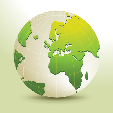 Global, Vector illustration of Global map in Africa, Middle East and European continents view.