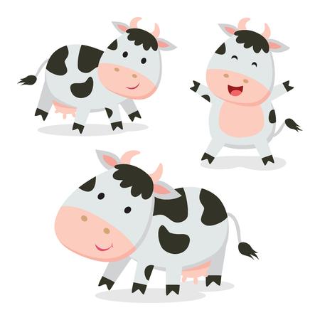 Cute cows vector