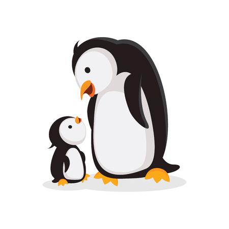 Tiempo de unión de madre pingüino y pingüino bebé