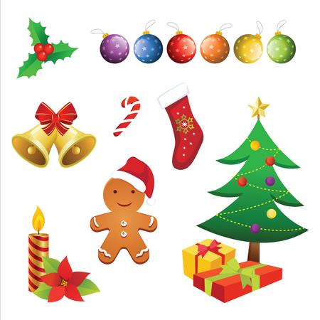 Christmas elements vector Иллюстрация
