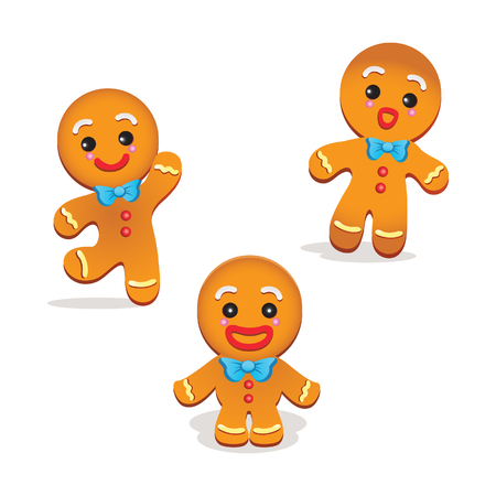 Humorous gingerbread vector