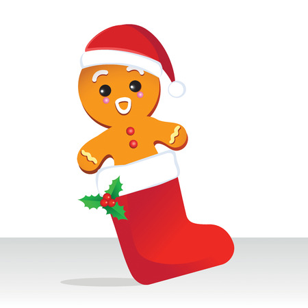 Cute Christmas gingerbread vector