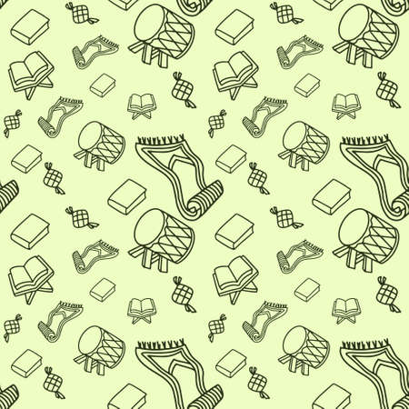 Islamic Doodle Pattern Vector