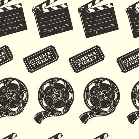 Cinema Silhouette vector illustration
