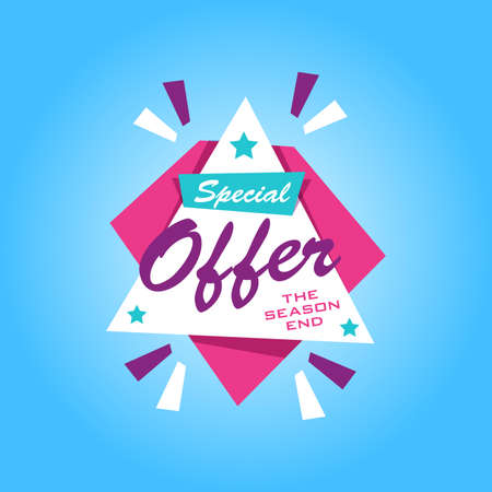 sale sticker: Special offer sticker. Promotion tag. Price labels. Sale limited offer banner. Advertisement template. Limited Discount Illustration
