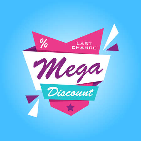 discount banner: Special offer sticker. Promotion tag. Price labels. Sale limited offer banner. Advertisement template. Limited Discount Illustration