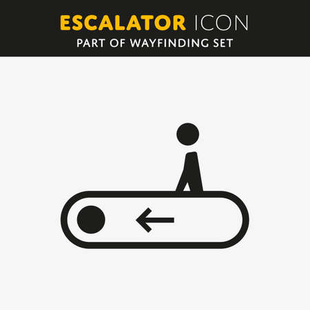 stair: Vector elevator icon. Stair sign. Walk man