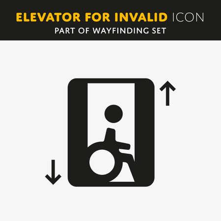 impairment: Disability man pictogram flat icon lift isolated on white background