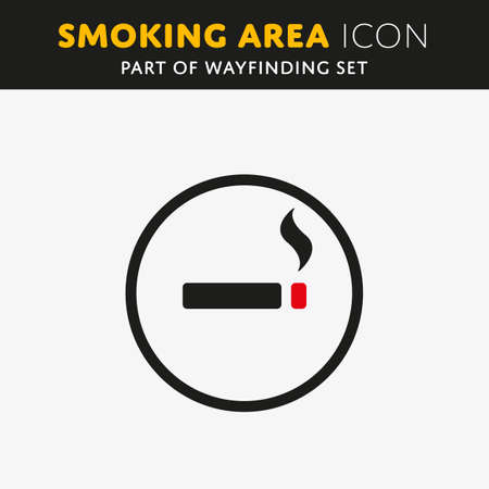 nicotine: Vector smoking icon. Cigarette sign. Nicotine symbol