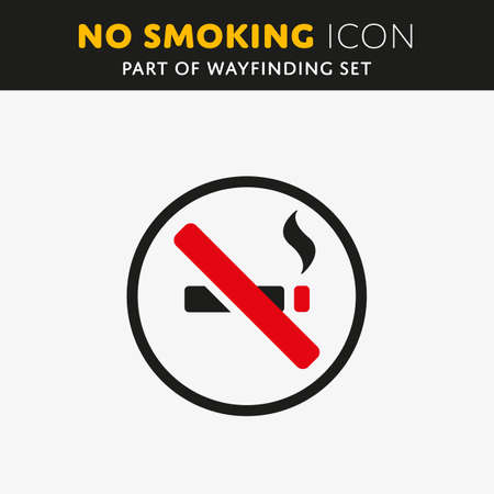 nicotine: Vector No smoking icon. Cigar sign on white background. Stop nicotine symbol