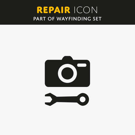 Repair icon. Camera sign. Key symbol Vector Illustration
